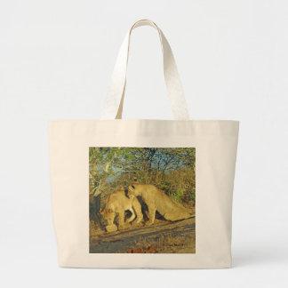Lion Cubs Canvas Bags