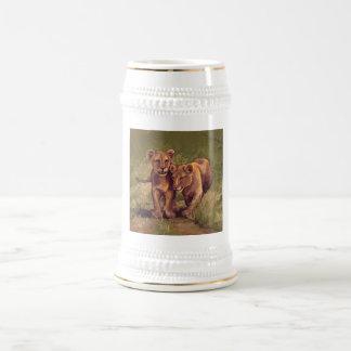 Lion Cubs Beer Stein