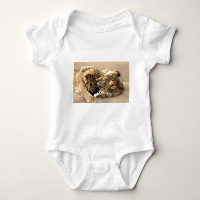 Lion cubs best friends baby bodysuit