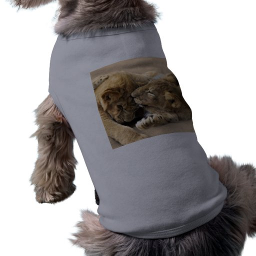 Lion cubs best friends pet t-shirt