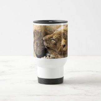 Lion cubs best friends travel mug