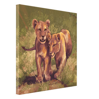 Lion Cubs Canvas Print