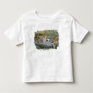 Lion cubs on log, Panthera leo, Masai Mara, 2 Toddler T-shirt