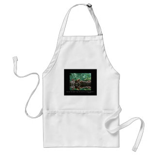 Lion cubs reflected in pool. adult apron