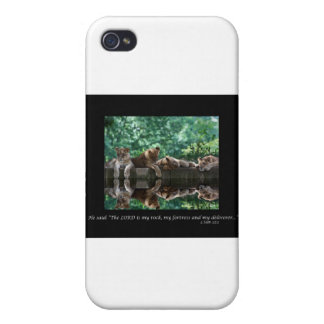 Lion cubs reflected in pool. iPhone 4/4S cover