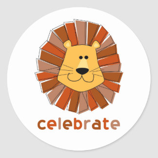 Lion Cupcake Topper Stickers