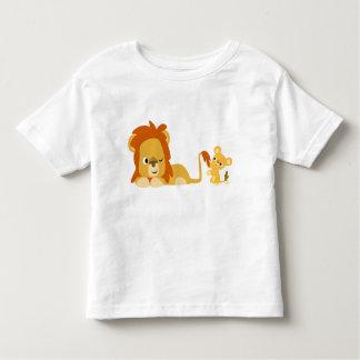 Lion Dad and Cub children T-shirt