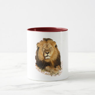 lion design in memory of cecil the lion cat mug