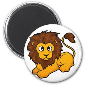 Lion Design 2 Inch Round Magnet