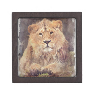 Lion Digital Painting Jewelry Box