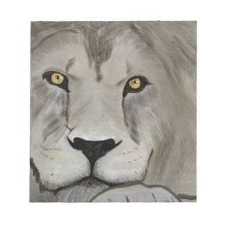 Lion Digital Painting Note Pad