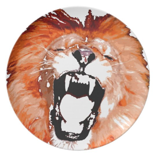 Lion Dinner Plate