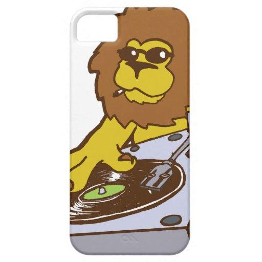 lion-dj.png iPhone 5 Case-Mate cárcasas