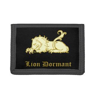 Lion Dormant medieval heraldry Wallet