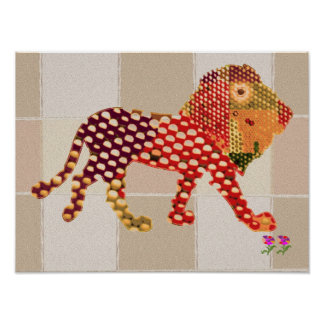 LION -  Dot painted by Navin Print