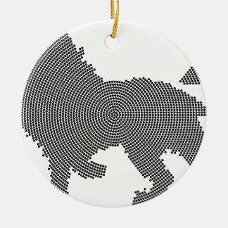 lion dots ceramic ornament