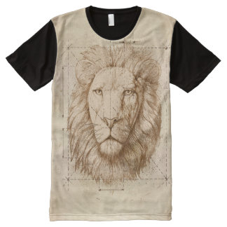 Lion Drawing All-Over-Print T-Shirt