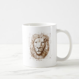 Lion Drawing Coffee Mug