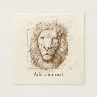 Lion Drawing Napkin