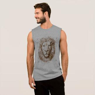 Lion Drawing Sleeveless Shirt