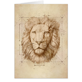 Lion Drawing, Technical Card