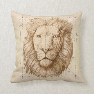 Lion Drawing Throw Pillow