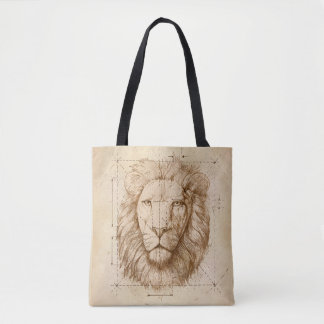 Lion Drawing Tote Bag