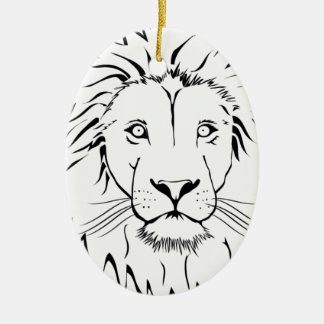 lion drawing vector design ceramic ornament