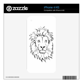 lion drawing vector design iPhone 4S decals