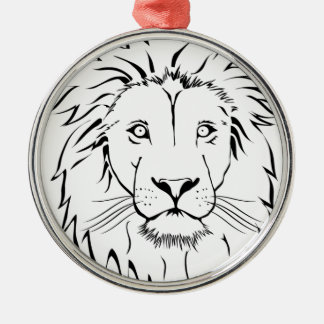 lion drawing vector design metal ornament