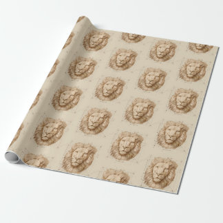 Lion Drawing Wrapping Paper
