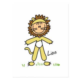 Lion Dress Up T-shirts and Gifts Postcard