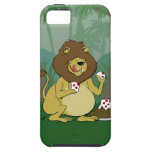Lion Eating Cake - Funny Cartoon iPhone Case iPhone 5 Case