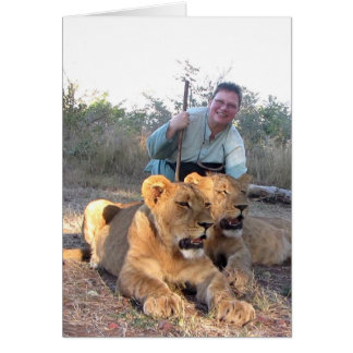 Lion Encounter (Walking with Lions) Card
