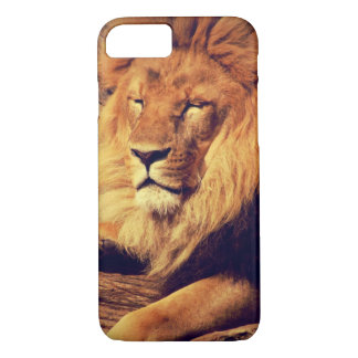 Lion enjoying the afternoon sun iPhone 7 case