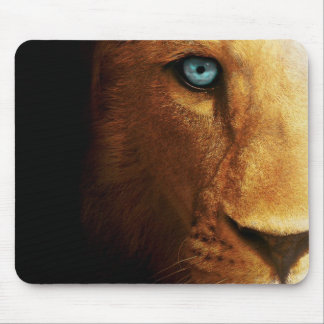 Lion Eye Blue Abstract Large head Mouse Pad