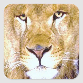 Lion Eyes Square Sticker