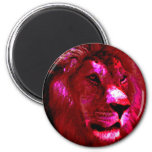 Lion Face 2 Inch Round Magnet