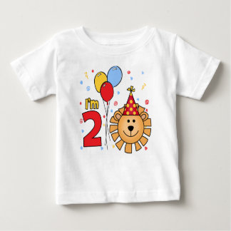 Lion Face  2nd Birthday T Shirt