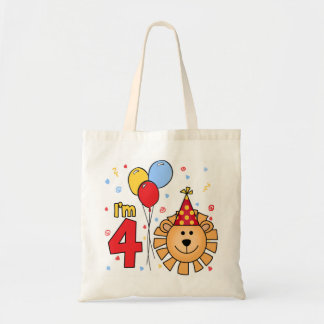Lion Face 4th Birthday Tote Bag