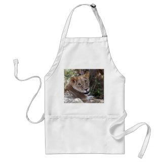 lion face adult apron