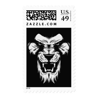 Lion Face Animal Africa Safari Wildlife Stamp