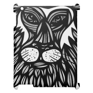 Lion Face Black and White iPad Covers