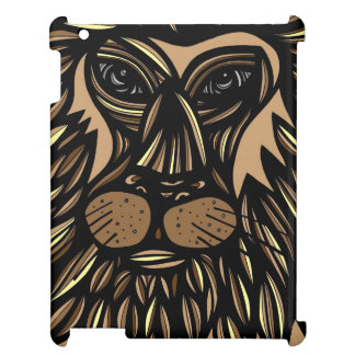 Lion Face Brown Black iPad Cases