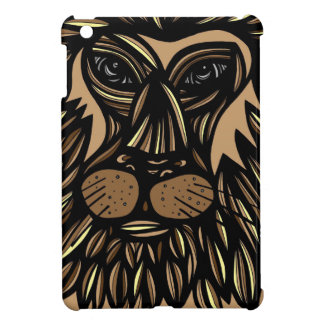 Lion Face Brown Black iPad Mini Cases