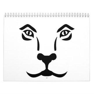 Lion face calendar