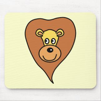 Lion Face Cartoon Mouse Pad