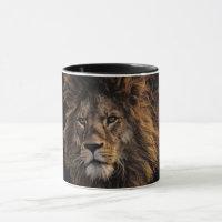Lion Face Coffee Mug