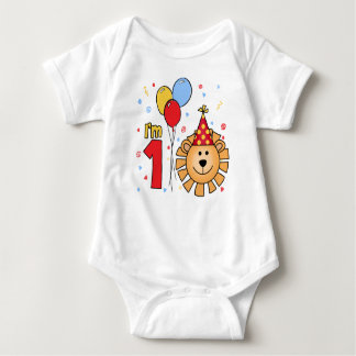 Lion Face First Birthday Infant Creeper