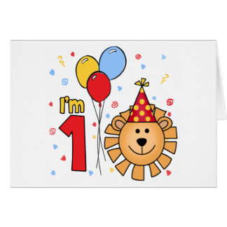 Lion Face First Birthday Invitation